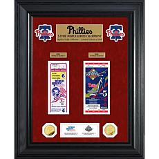 Officially Licensed MLB WS Gold Coin & Ticket Collection- Philadelp...