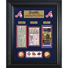 Officially Licensed MLB WS Gold Coin & Ticket Collection - Atlanta