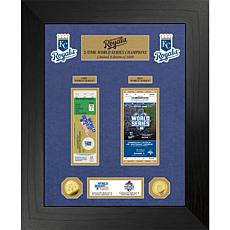 Officially Licensed MLB WS Gold Coin & Ticket Collection - Kansas City