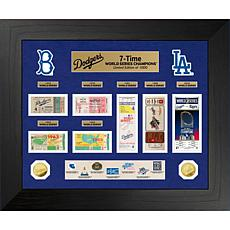 Officially Licensed MLB WS Gold Coin & Ticket Collection - Dodgers
