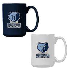 Officially Licensed NBA  15 oz. Team Colored Mug Set - Grizzlies
