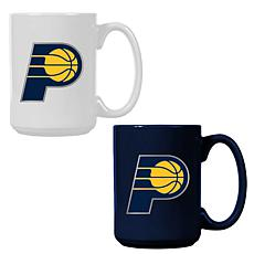 Officially Licensed NBA  15 oz. Team Colored Mug Set - Pacers