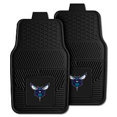 "Officially Licensed NBA 2pc Car Mat Set 17"" x 27"" - Charlotte Hornets"