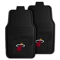 "Officially Licensed NBA 2pc Car Mat Set 17"" x 27"" - Miami Heat"
