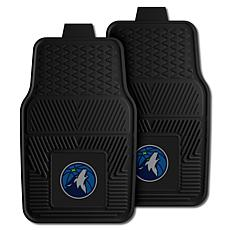 "Officially Licensed NBA 2pc Car Mat Set 17"" x 27"" - Minnesota Wolves"