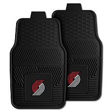 "Officially Licensed NBA 2pc Car Mat Set 17"" x 27"" - Portland Blazers"