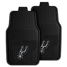 "Officially Licensed NBA 2pc Car Mat Set 17"" x 27"" - San Antonio Spurs"