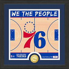 Officially Licensed NBA 76ers Battle Cry Bronze Coin Photo Mint