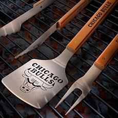 Officially Licensed NBA Classic Series 3-piece BBQ Set - Chicago Bulls