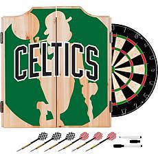 Officially Licensed NBA Dart Cabinet Set - Fade - Boston Celtics
