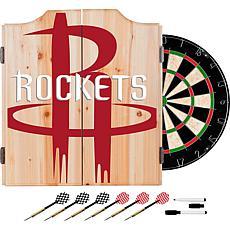 Officially Licensed NBA Dart Cabinet Set - Fade - Houston Rockets