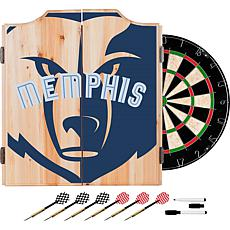 Officially Licensed NBA Dart Cabinet Set - Fade - Memphis Grizzlies