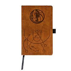 Officially Licensed NBA Engraved Brown Notebook - Dallas Mavericks