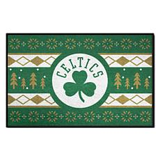 Officially Licensed NBA Holiday Sweater Starter Mat- Boston Celtics