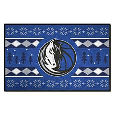 Officially Licensed NBA Holiday Sweater Starter Mat- Dallas Mavericks