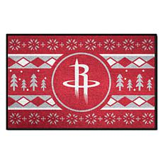 Officially Licensed NBA Holiday Sweater Starter Mat-  Houston Rockets