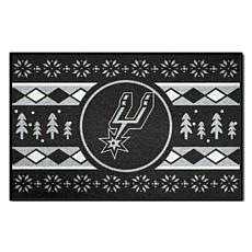 Officially Licensed NBA Holiday Sweater Starter Mat- San Antonio Spurs