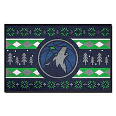 Officially Licensed NBA Holiday Sweater Starter Mat-  Timberwolves