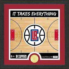 Officially Licensed NBA LA Clippers Battle Cry Bronze Coin Photo Mint
