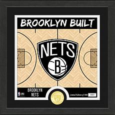 Officially Licensed NBA Nets Battle Cry Bronze Coin Photo Mint