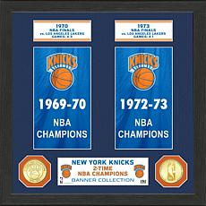 Officially Licensed NBA New York Knicks Banner Bronze Coin Photo Mint