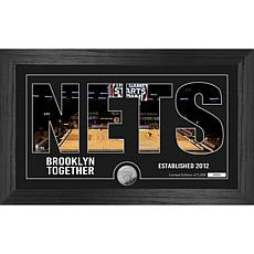 Officially Licensed NBA Silhouette Bronze Coin Photo Mint - Brooklyn