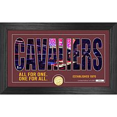 Officially Licensed NBA Silhouette Bronze Coin Photo Mint - Cleveland