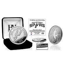 Officially Licensed NBA Silver Mint Coin - San Antonio Spurs