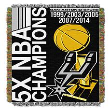 Officially Licensed NBA Spurs Commemorative Woven Tapestry Throw