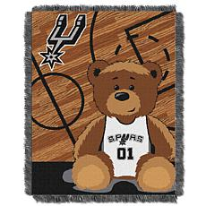 """Officially Licensed NBA Spurs """"Half-Court"""" Baby Woven Jacquard Throw"""