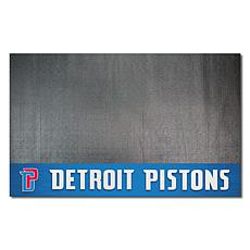 Officially Licensed NBA Vinyl Grill Mat  - Detroit Pistons