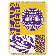 Officially Licensed NCAA 2019 National Champions Woven Jacquard Throw