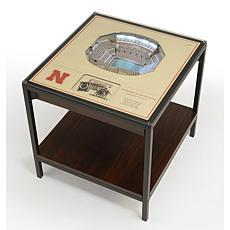 Officially Licensed NCAA 25-Layer StadiumViews End Table - Nebraska