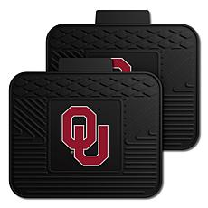 Officially Licensed NCAA  2pc Heavy Duty Vinyl Mat Set-Un. of Oklahoma