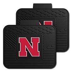 Officially Licensed NCAA  2pc Heavy Duty Vinyl Mat Set-Un. of Nebraska