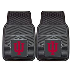 Officially Licensed NCAA 2pc Vinyl Car Mat Set - Indiana University