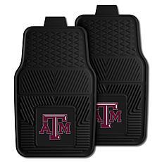 Officially Licensed NCAA 2pc Vinyl Car Mat Set - Texas A&M