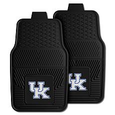 Officially Licensed NCAA  2pc Vinyl Car Mat Set - Un. of Kentucky