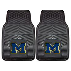 Officially Licensed NCAA  2pc Vinyl Car Mat Set - Un. of Michigan