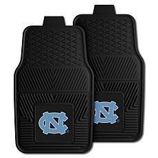 Officially Licensed NCAA  2pc Vinyl Car Mat Set-Un. of North Carolina