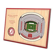 Officially-Licensed NCAA 3-D StadiumViews Display - AL Crimson Tide