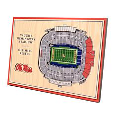 Officially-Licensed NCAA 3-D StadiumViews Display - Mississippi Reb...