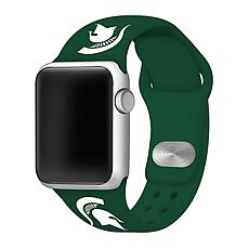 Officially Licensed NCAA 38/40mm Silicone Apple Watch Band - MI State