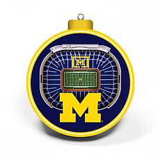 Officially Licensed NCAA 3D StadiumView Ornament 2-pack - Michigan