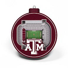 Officially Licensed NCAA 3D StadiumView Ornament 2-pack - Texas A&M