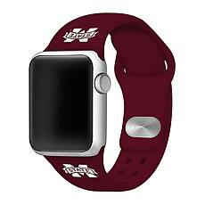 Officially Licensed NCAA 42/44mm Apple Watch Band - Mississippi State