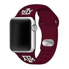 Officially Licensed NCAA 42/44mm Silicone Apple Watch Band - Texas A&M
