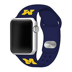Officially Licensed NCAA 42/44mm Silicone Apple Watch Band - Michigan