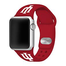Officially Licensed NCAA  42mm/44mm Apple Watch Band - Indiana - Red