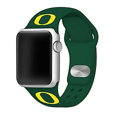Officially Licensed NCAA 42mm/44mm Silicone Apple Watch Band - Oregon